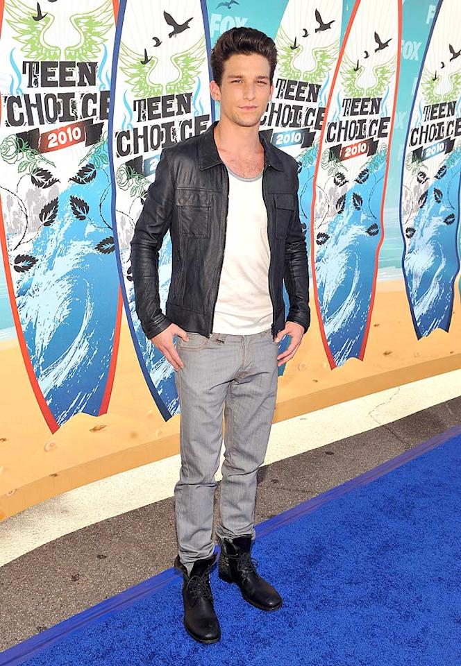 """<b>Daren Kagasoff (Grade: B-)</b>  Daren -- who plays Ricky Underwood on """"The Secret Life of the American Teenager"""" -- channeled his inner Fonz by donning a white T-shirt, leather jacket, and Pompadour. Kevin Mazur/<a href=""""http://www.wireimage.com"""" target=""""new"""">WireImage.com</a> - August 8, 2010"""