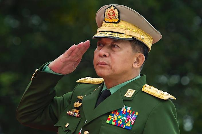 A shorter version of the UN report, published last month, had already called for Myanmar's army chief Min Aung Hlaing (pictured) and five other top military commanders to be prosecuted in an international court for genocide (AFP Photo/YE AUNG THU)