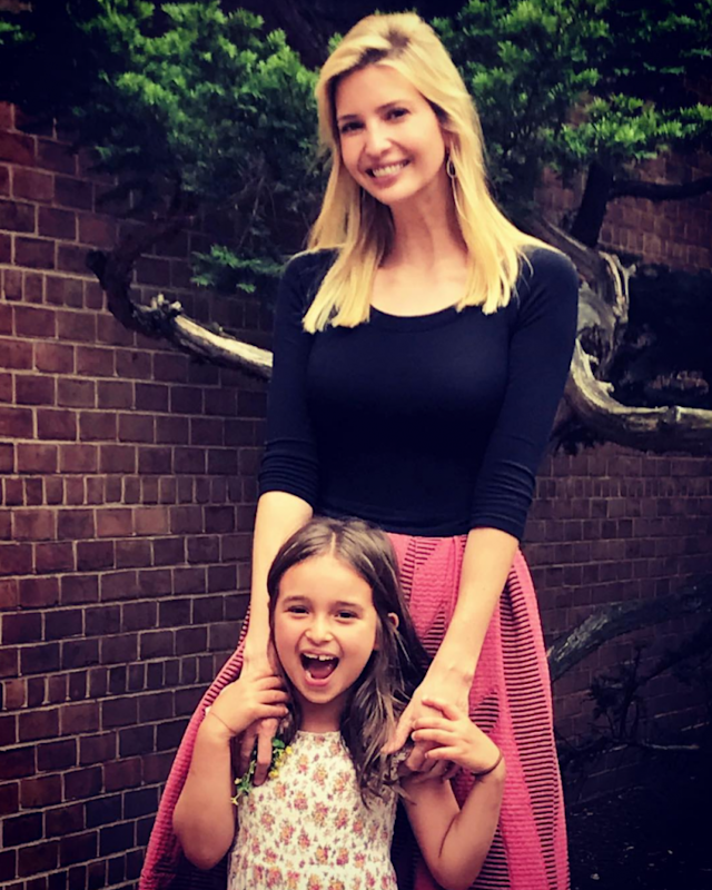 Ivanka Trump poses with daughter Arabella on her final day of the school year. (Photo: Instagram via Ivanka Trump)