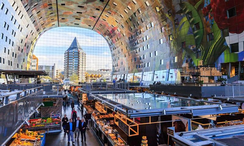Not just anywhere … the Markthal in Rotterdam.