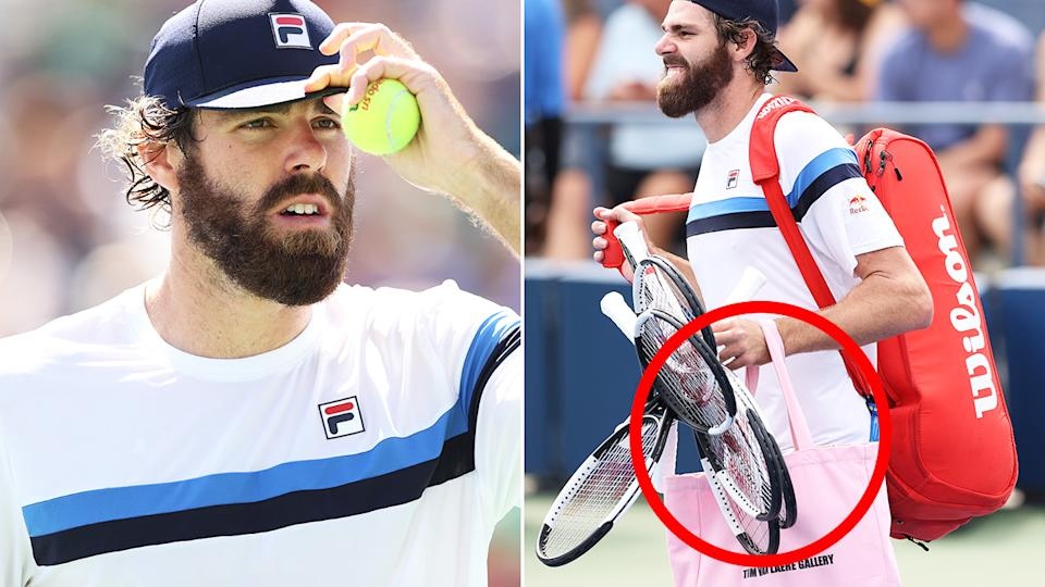 Reilly Opelka was furious after being fined $10,000 by US Open officials for bringing a tote bag with him on court.
