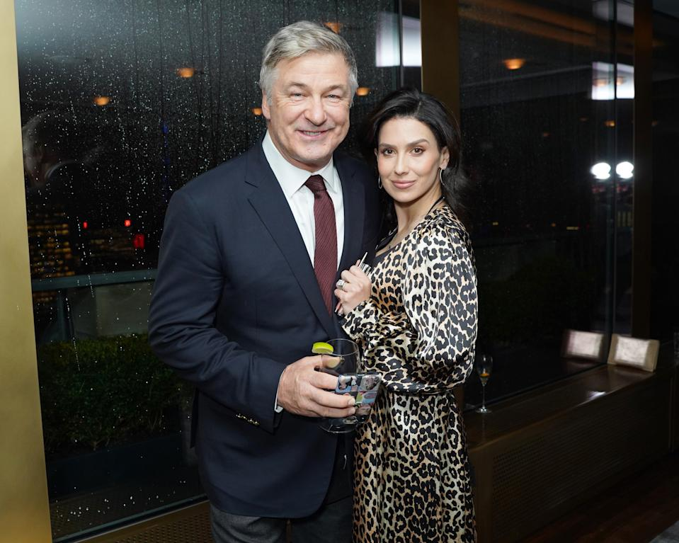 NEW YORK, NEW YORK - MARCH 03: Hilaria Baldwin and Alec Baldwin attend Guild Hall Academy Of The Arts Achievement Awards 2020 at the Rainbow Room on March 03, 2020 in New York City. (Photo by Sean Zanni/Patrick McMullan via Getty Images)