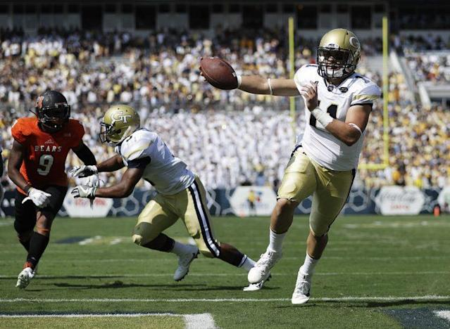 Matthew Jordan (11) is out for the rest of spring with a foot injury. (AP)
