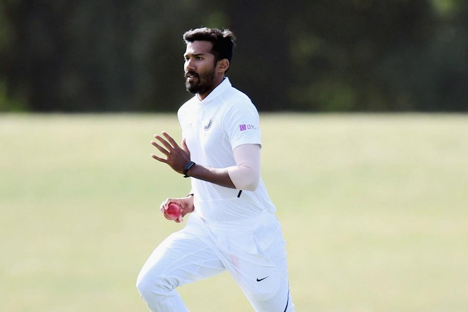 <p>Kolkata Knight Riders bowler Sandeep Warrier has tested positive for Covid-19</p> (Getty Images)