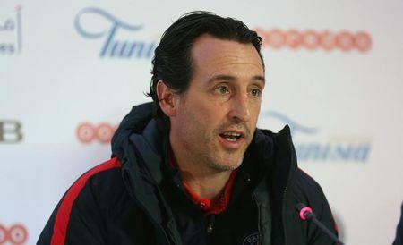 Football Soccer - Club Africain v PSG - International friendly - Tunis, Tunisia  - 3/1/17. Paris St Germain coach Unai Emery attends the pre-match news conference. REUTERS/Zoubeir Souissi