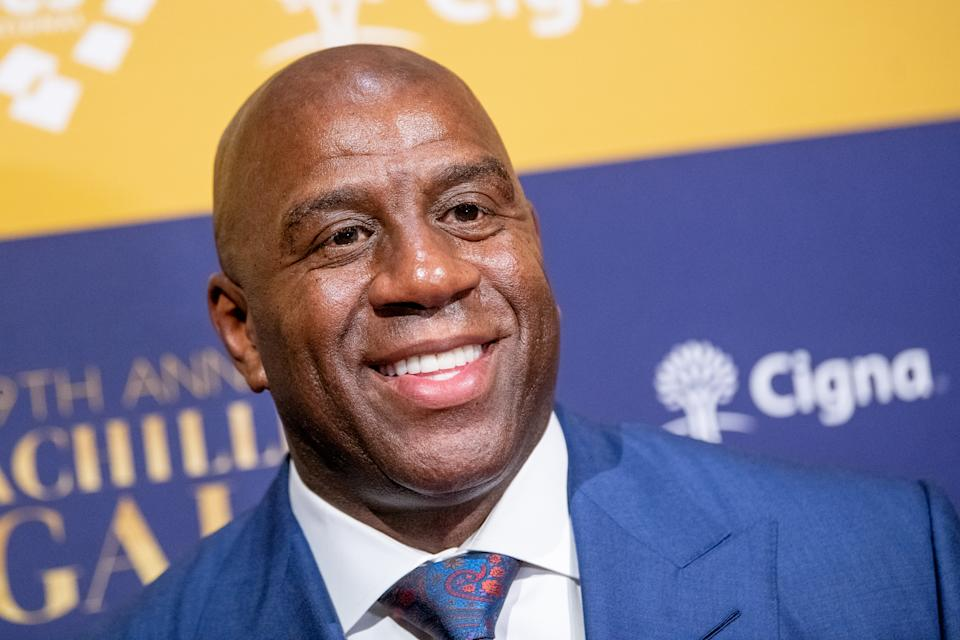 Hosted by Magic Johnson, this year's Pitch Day will feature spiels from six women- and minority-run early-stage business owners. (Photo by Roy Rochlin/Getty Images)