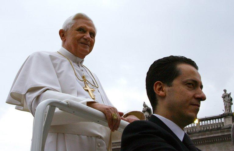 Pope Benedict XVI's at the time butler Paolo Gabriele October 10, 2006 in St Peter's square, Vatican City