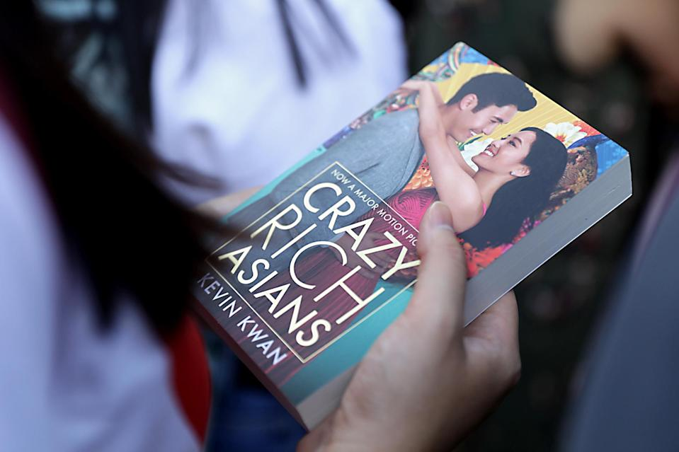 <p>A copy of the 'Crazy Rich Asians' book at the Singapore premiere of 'Crazy Rich Asians' on 21 August 2018. (PHOTO: Yahoo Lifestyle Singapore) </p>