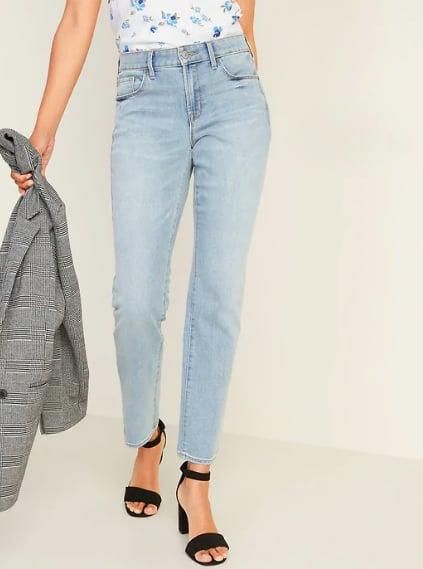 "<p>Straight-leg jeans like <a href=""https://www.popsugar.com/buy/pair-476257?p_name=this%20pair&retailer=oldnavy.gap.com&pid=476257&price=35&evar1=fab%3Aus&evar9=46462273&evar98=https%3A%2F%2Fwww.popsugar.com%2Ffashion%2Fphoto-gallery%2F46462273%2Fimage%2F46462274%2FStraight-Jeans&list1=shopping%2Cold%20navy&prop13=mobile&pdata=1"" rel=""nofollow"" data-shoppable-link=""1"" target=""_blank"" class=""ga-track"" data-ga-category=""Related"" data-ga-label=""https://oldnavy.gap.com/browse/product.do?pid=449958002&amp;cid=1084902&amp;pcid=10018&amp;grid=pds_10_497_1#pdp-page-content"" data-ga-action=""In-Line Links"">this pair</a> ($35) are the It denim of the season. Universally flattering, they have just the right amount of stretch and, since they hit perfectly at the ankle, they'll look great with any shoe you pair them with.</p>"
