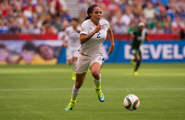 Former USWNT forward Sydney Leroux Dwyer wasn't going to miss the United States' World Cup win against France on Friday, even if the game was just hours after she gave birth to her second child. (Rich Lam/Getty Images)