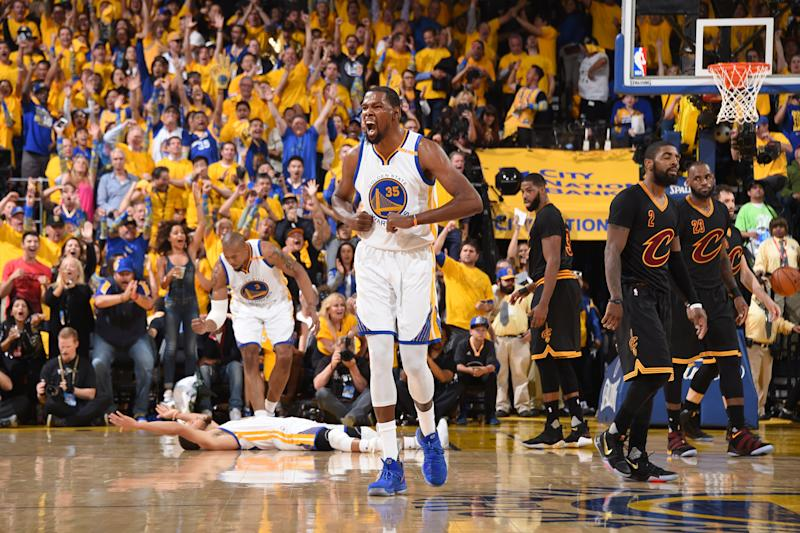 Warriors win National Basketball Association title, Kevin Durant claims Finals MVP