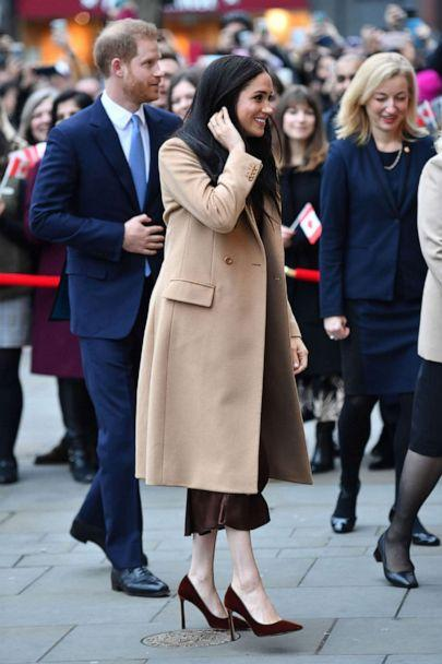 PHOTO: Prince Harry and Meghan Duchess of Sussex visit Canada House in London, Jan. 7, 2020. (Tim Rooke/REX via Shutterstock)