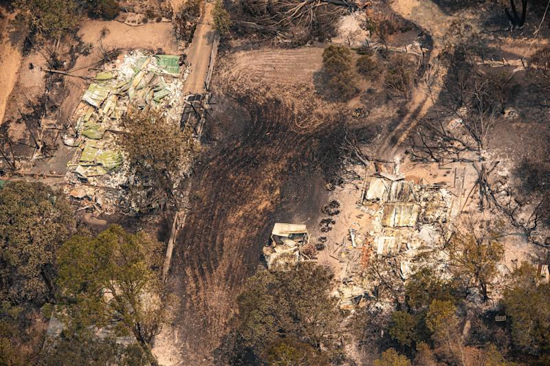 Sarsfield properties completely flatted by bushfires in Victoria's East Gippsland.