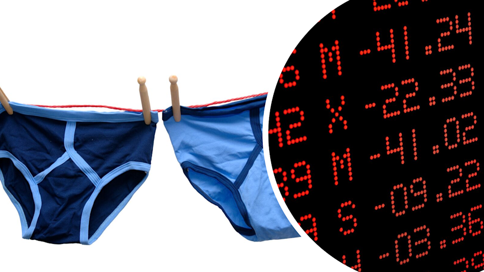 Can men's underwear sales predict a recession? Apparently so. Source: Getty