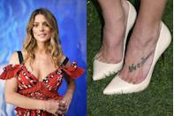 """<p>The <em>Twilight </em>star has the phrase, """"Life's a Dance,"""" tattooed on the top of her foot. But it's missing one little thing: an apostrophe.</p>"""