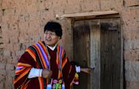 Morales visits his birthplace near Orinoca, Bolivia on November 11, 2020