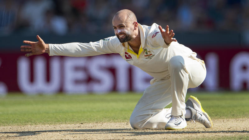 Nathan Lyon is pictured appealing during the 2019 Ashes series.