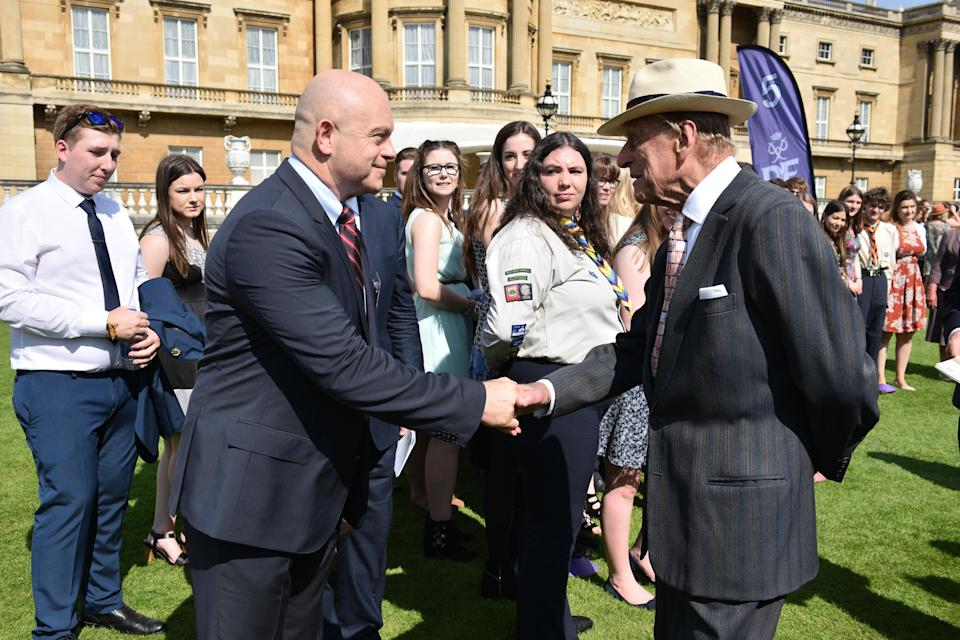 Ross Kemp meeting the Duke of Edinburgh (DofE Award/PA)
