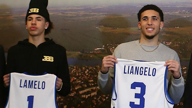 The Ball brothers made their official pro debut in Lithuania, and only played a combined 14 minutes.
