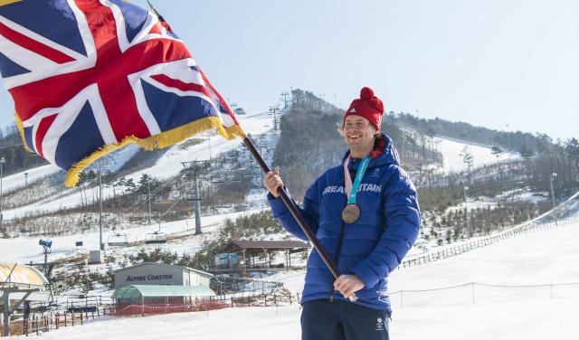 Snowboarder Billy Morgan will carry the Team GB flag at the closing ceremony of the PyeongChang Olympics (picture Andy J Ryan/Team GB)