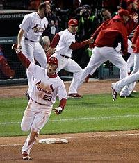 David Freese's walk-off home run in the 11th inning won Game 6 of the World Series for the St. Louis Cardinals