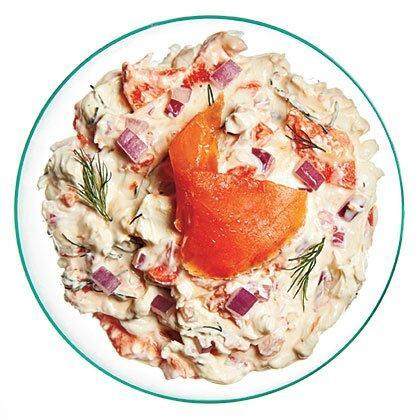 """<p>We cut the calories and sat fat in half with light cream cheese and sour cream. </p><p><a href=""""https://www.myrecipes.com/recipe/smoked-salmon-dip"""" rel=""""nofollow noopener"""" target=""""_blank"""" data-ylk=""""slk:Smoked Salmon Dip Recipe"""" class=""""link rapid-noclick-resp"""">Smoked Salmon Dip Recipe</a></p>"""