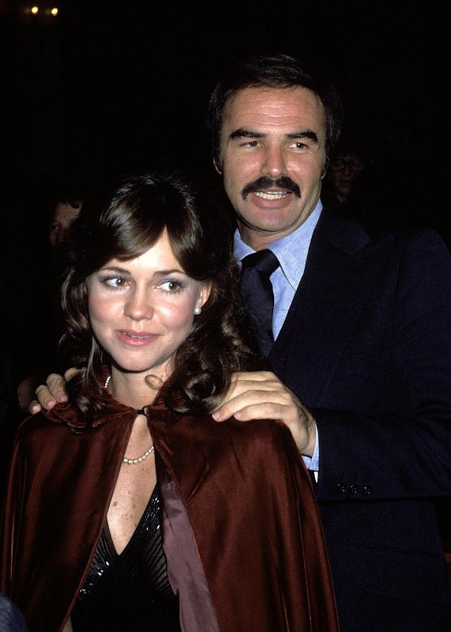 Sally Field with Burt Reynolds in 1977 (Photo: Getty Images)