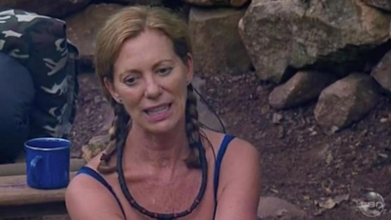 Kerry Armstrong recalled the awkward moment on I'm A Celeb on Sunday night. Source: Ten