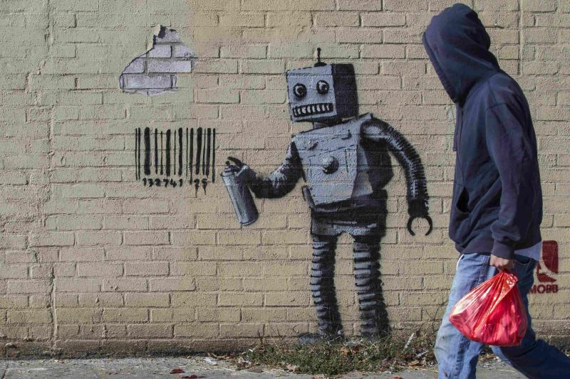 The newest art installation by British artist Banksy in the Coney Island area of New York City