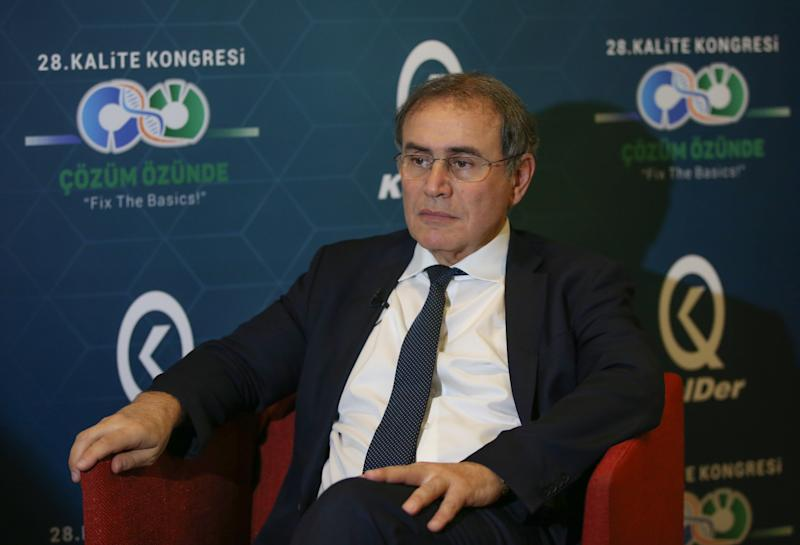 ISTANBUL, TURKEY - NOVEMBER 26: Nouriel Roubini, professor of economics at New York University speaks during an exclusive interview on Turkey's economy and global markets within the 28th Quality Congress in Istanbul, Turkey on November 26, 2019. (Photo by Emrah Yorulmaz/Anadolu Agency via Getty Images)