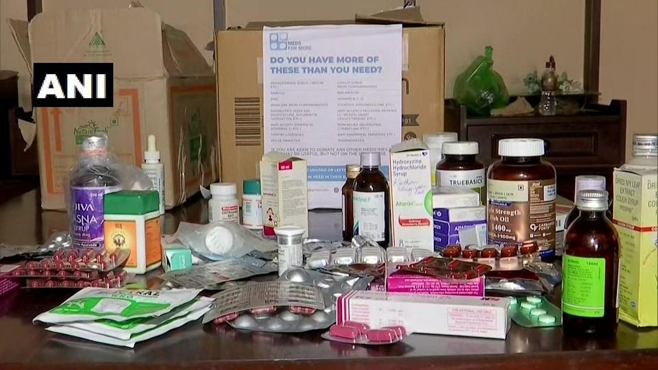 Medicines collected by Dr Raina and Dr Marcus