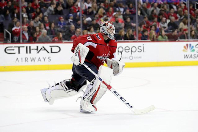 Braden Holtby will be looking to continue his reign as champion goalie in 2018. (Photo by Rob Carr/Getty Images)