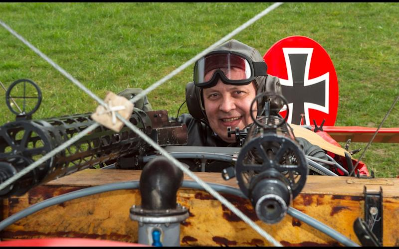 Dreaded Red Baron to fly again...WW1 Ace's feared 'Fokker Dreidecker' to finally fly over Britain. A German GP based in Norfolk has spent 8 years building a Fokker triplane in his garage as a tribute to infamous WW1 Ace Manfred von Ricthofen, who terrorised the skies over the Western front during the first war - Credit:  Phil Yeomans/BNPS