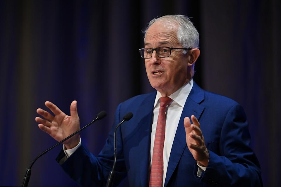 Former Australian prime minister Malcolm Turnbull is pictured.
