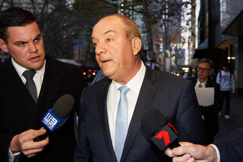 Ex-NSW MP Daryl Maguire is seen leaving the NSW Independent Commission Against Corruption.