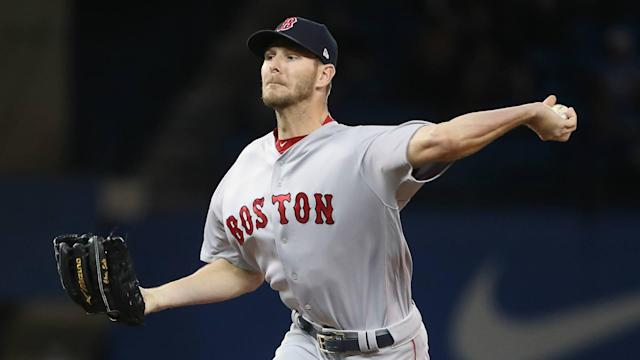 Chris Sale's opening day start for the Red Sox might be in jeopardy.