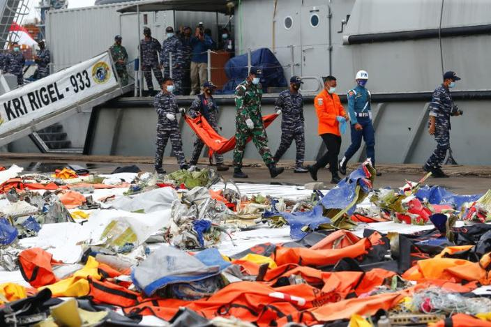 Search and rescue operation for Sriwijaya Air flight SJ182 at Tanjung Priok port, in Jakarta