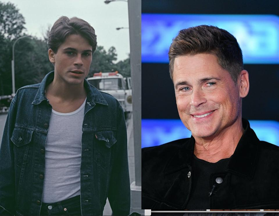 If you didn't have a poster of Rob Lowe in the 80s, did you even do the 80s? Pictured left in 1983 and right in 2020. (Getty)