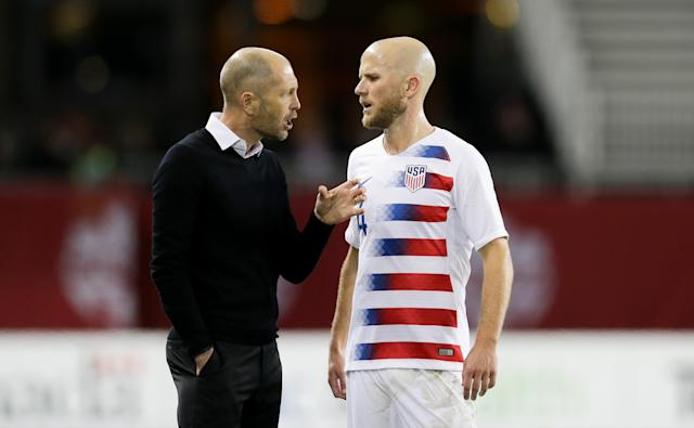 Gregg Berhalter (L), Michael Bradley and the USMNT rebounded from a rough October loss to Canada. (Photo by John Dorton/ISI Photos/Getty Images)
