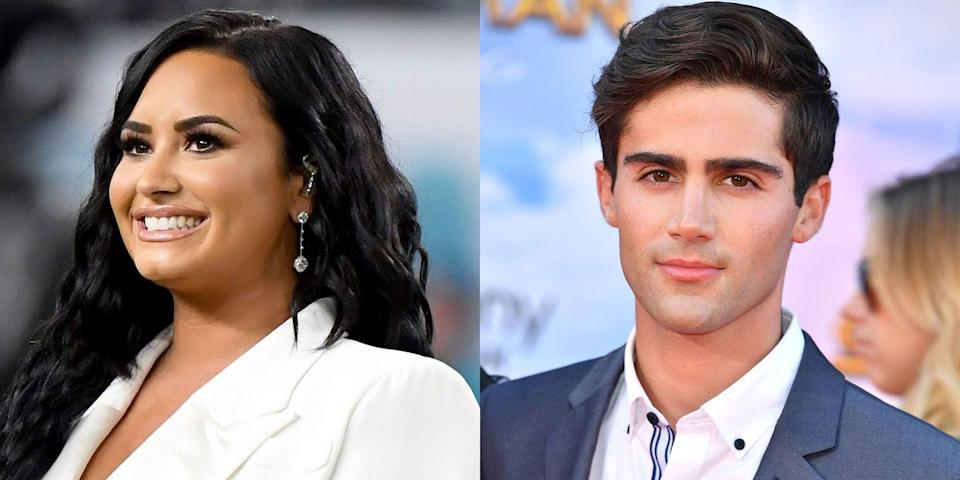 """<p>In late March 2020, <em><a href=""""https://www.usmagazine.com/celebrity-news/news/demi-lovato-is-dating-young-and-the-restless-star-max-ehrich/"""" rel=""""nofollow noopener"""" target=""""_blank"""" data-ylk=""""slk:Us Weekly"""" class=""""link rapid-noclick-resp"""">Us Weekly</a> </em>broke news of <a href=""""https://www.elle.com/culture/celebrities/a31932800/demi-lovato-max-ehrich-dating/"""" rel=""""nofollow noopener"""" target=""""_blank"""" data-ylk=""""slk:Lovato's romance"""" class=""""link rapid-noclick-resp"""">Lovato's romance</a> with former <em>Young and the Restless </em>star Max Ehrich. Although the pair has reportedly only been dating for a few weeks, they are now quarantining together. """"Demi and Max have been seeing each other for a few weeks now,"""" a source told <a href=""""https://www.eonline.com/news/1134408/demi-lovato-is-dating-young-and-the-restless-alum-max-ehrich"""" rel=""""nofollow noopener"""" target=""""_blank"""" data-ylk=""""slk:E!"""" class=""""link rapid-noclick-resp"""">E!</a>. """"They have been quarantining together at Demi's house and it's going really well.""""</p><p>The insider added, """"He is a good influence on Demi and they have a lot in common. They have a few mutual friends in common, but Demi has been introducing Max to her closest friends via Facetime since being quarantined. It's very new but they are definitely hanging out and seeing where it leads. They have spent a lot of time together, but I wouldn't say it's an exclusive relationship yet.""""<br></p>"""