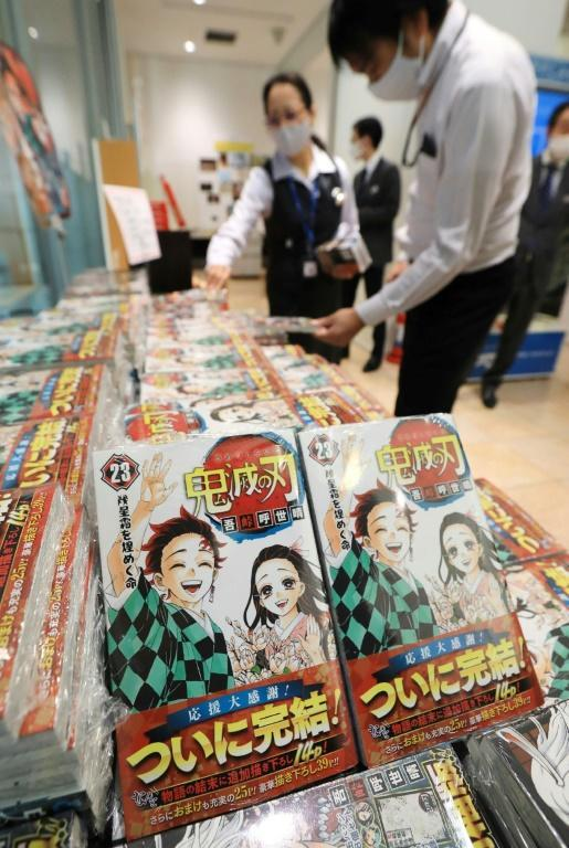 Long queues formed outside manga shops earlier this month for the release of its 23rd tome of 'Demon Slayer'