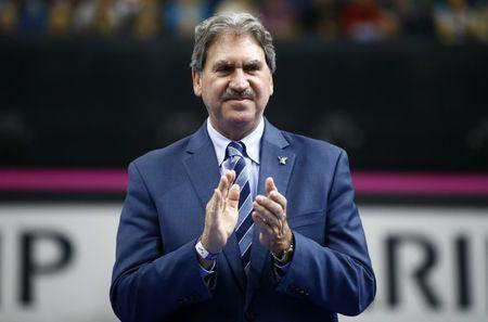 FILE PHOTO: Tennis - Fed Cup Final - Belarus v United States - Chizhovka Arena, Minsk, Belarus, November 12, 2017 - President of International Tennis Federation David Haggerty. REUTERS/Vasily Fedosenko