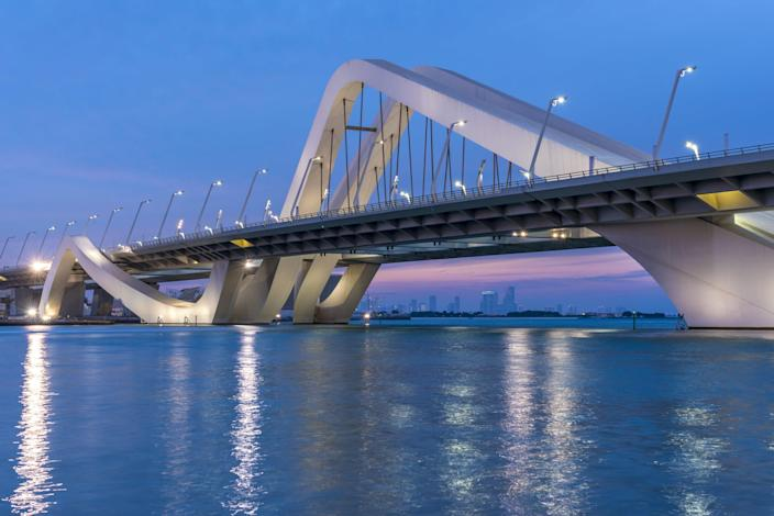 Designed by the late Zaha Hadid, Abu Dhabi's Sheikh Zayed Bridge was completed in 2010 for a total of $300 million.