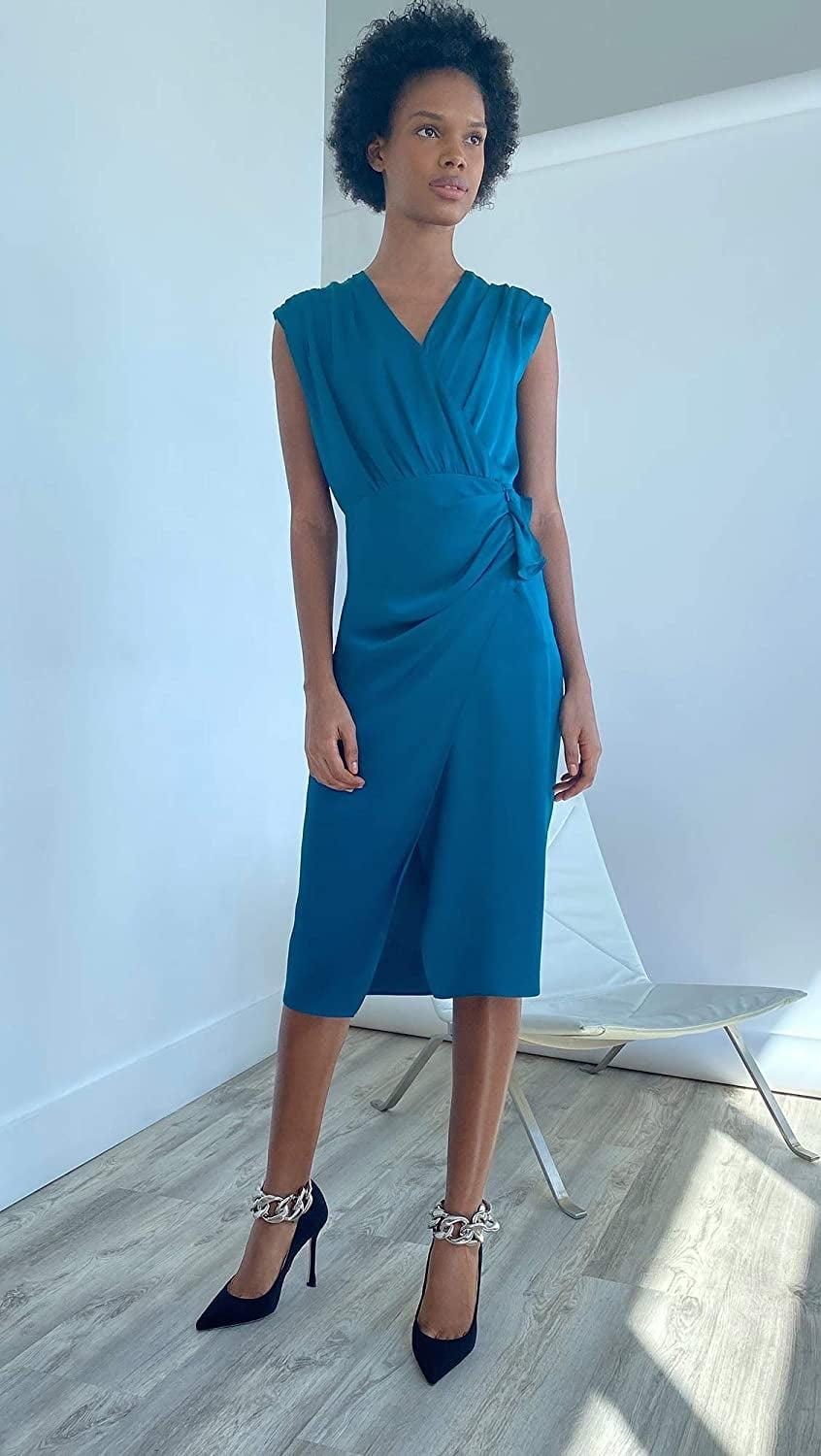 <p>Get dressed up in this <span>Veronica Beard Clarissa Dress</span> ($119).</p>