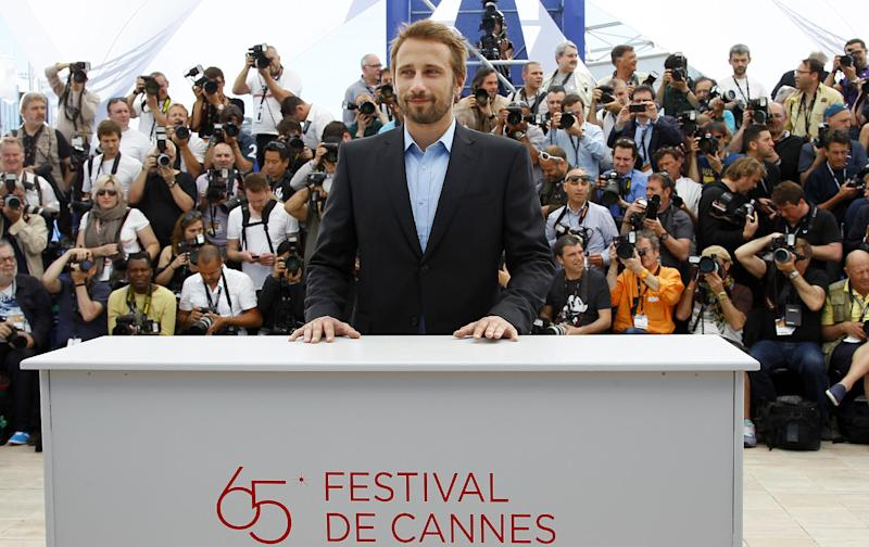 Actor Matthias Schoenaerts poses during a photo call for Rust and Bone at the 65th international film festival, in Cannes, southern France, Thursday, May 17, 2012. (AP Photo/Francois Mori)