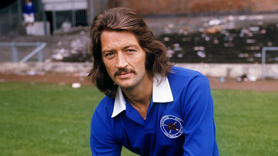 Frank Worthington is pictured here during his time with the Leicester Football Club.
