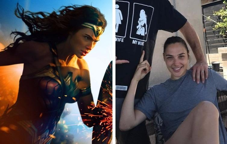 Wonder Woman/Wonder Wife Gal Gadot (credit: Warner Bros, Gal Gadot/Reddit)