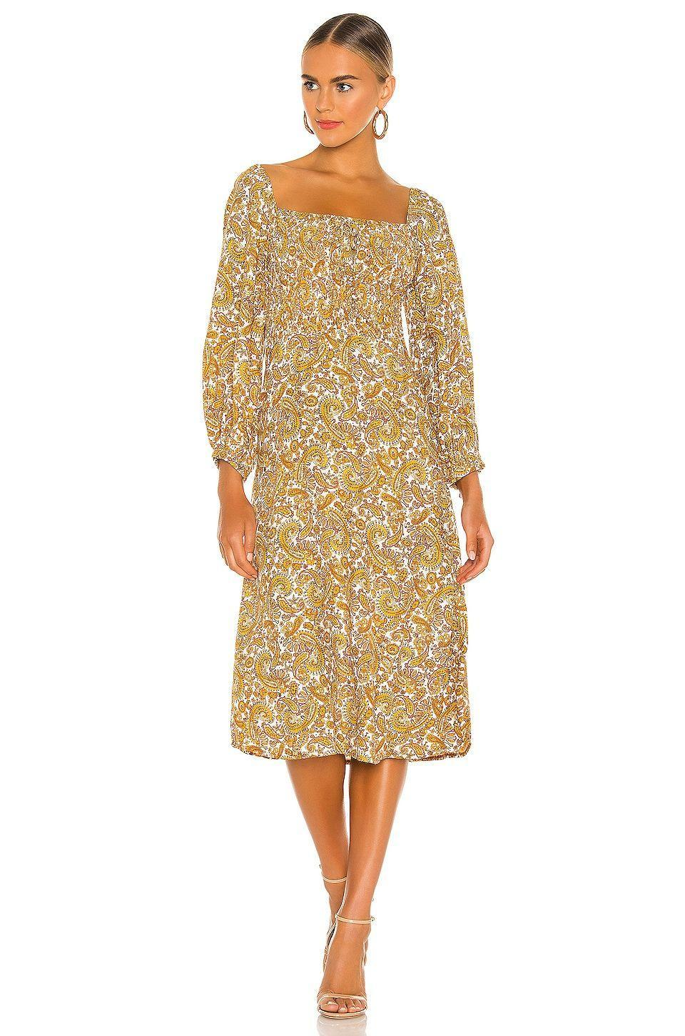 """<p><strong>FAITHFULL THE BRAND</strong></p><p>revolve.com</p><p><strong>$199.00</strong></p><p><a href=""""https://go.redirectingat.com?id=74968X1596630&url=https%3A%2F%2Fwww.revolve.com%2Fdp%2FFAIB-WD312%2F&sref=https%3A%2F%2Fwww.womenshealthmag.com%2Flife%2Fg36173394%2Fsummer-wedding-guest-dresses%2F"""" rel=""""nofollow noopener"""" target=""""_blank"""" data-ylk=""""slk:Shop Now"""" class=""""link rapid-noclick-resp"""">Shop Now</a></p><p>Take advantage of the fact that bold prints rule the summer, and show up in this cute paisley print midi dress. You'll look stunning next to all of the flowers. </p>"""