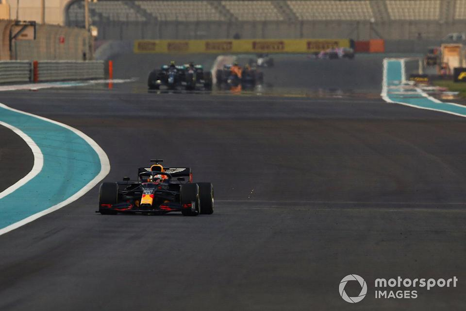 "Max Verstappen, Red Bull Racing RB16, Valtteri Bottas, Mercedes F1 W11, Lewis Hamilton, Mercedes F1 W11<span class=""copyright"">Charles Coates / Motorsport Images</span>"