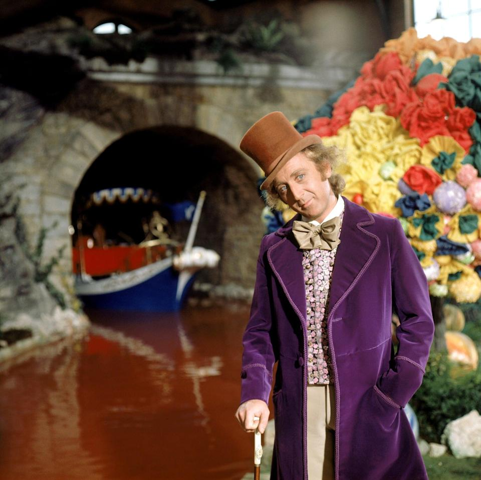 <p>Back in 1971, Gene portrayed Willy Wonka for the first time in a long velvet coat that skews far more purple than modern-day iterations.</p>